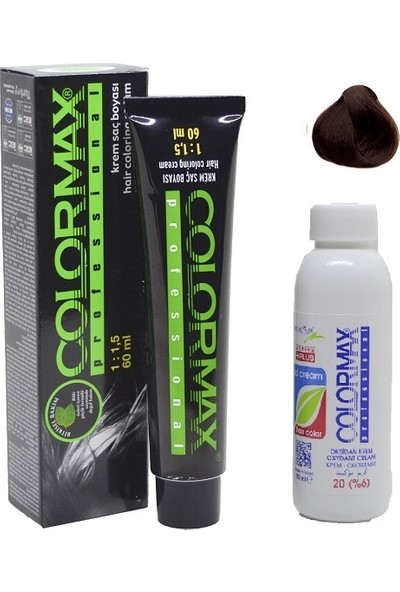 Colormax 5.74 Elegan Kahve Karamel + Oksidan Krem 90 ml