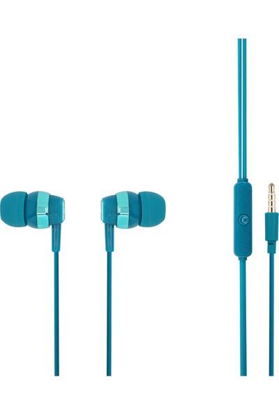 MF Product Acoustic 0090 Mikrofonlu Kablolu Kulak İçi Kulaklık Mavi