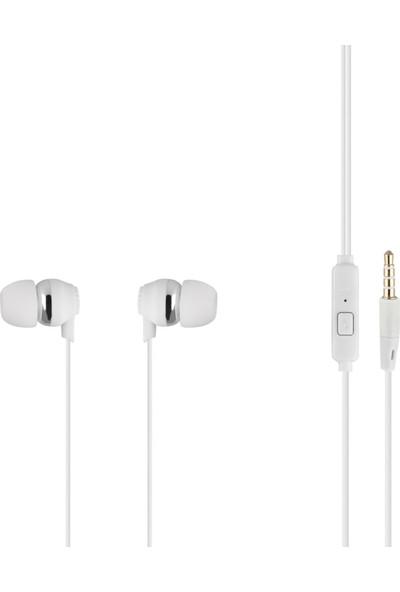 MF Product Acoustic 0092 Mikrofonlu Kablolu Kulak İçi Kulaklık Beyaz