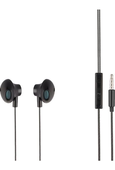 MF Product Acoustic 0154 Mikrofonlu Kablolu Kulak İçi Kulaklık Siyah
