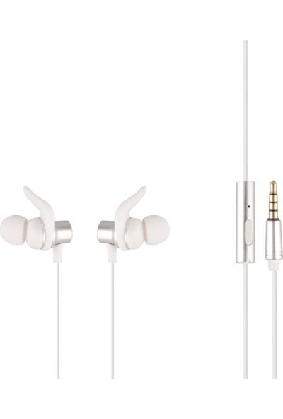 MF Product Acoustic 0155 Mikrofonlu Kablolu Kulak İçi Kulaklık Beyaz