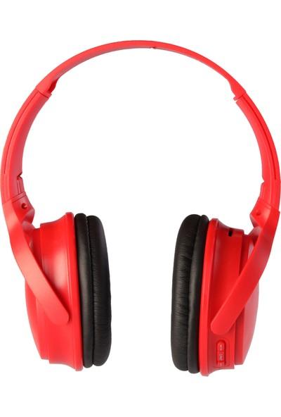 MF Product Acoustic 0236 Kablosuz Kulak Üstü Bluetooth Kulaklık Kırmızı
