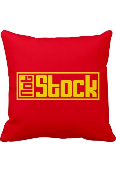 Asr Not Stock Saten Araç Yastığı Kırmızı ve Ahşap Anahtarlık