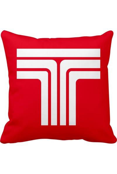 Asr Tofaş Logo Saten Araç Yastığı Kırmızı ve Ahşap Anahtarlık