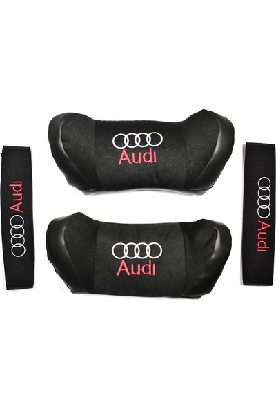 TrendGaraj Audi Siyah Boyun Yastığı Seti