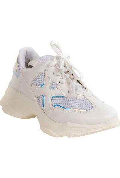 Baggy Walk Sofia Beyaz Hologram Kadın Sneaker