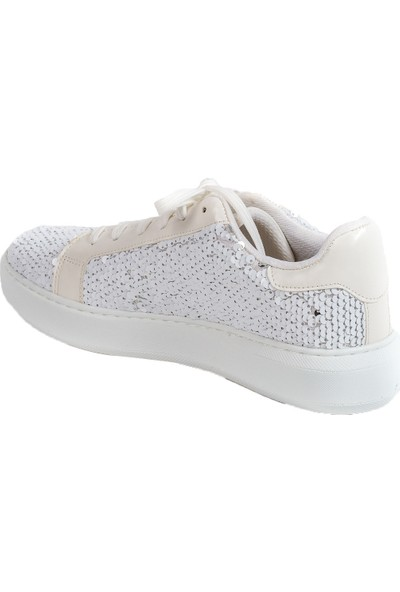 Baggy Walk Cardin Beyaz Payet Kadın Sneaker