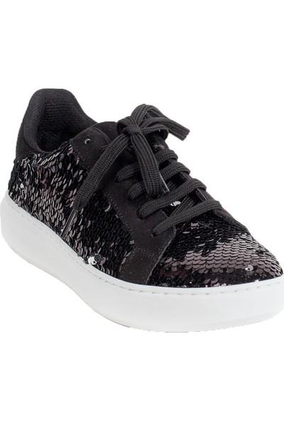 Baggy Walk Cardin Siyah Payet Kadın Sneaker