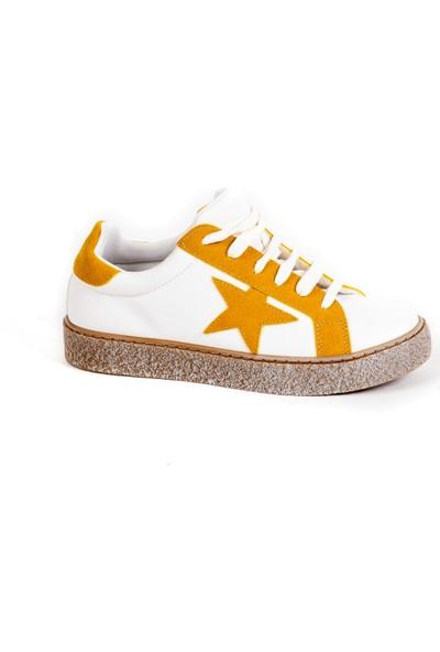 Baggy Walk Star Sarı Kadın Sneaker