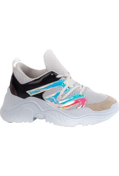Baggy Walk Fresh Gri Süet Kadın Sneaker