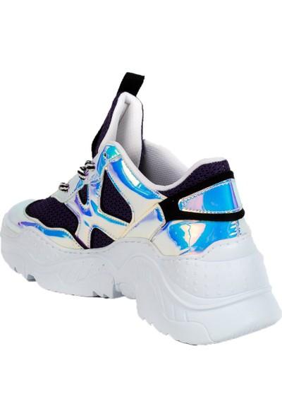 Baggy Walk Freh Mor Hologram Kadın Sneaker