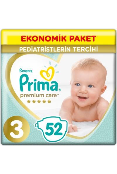 Prima Bebek Bezi Premium Care 3 Beden 52 Adet Ekonomik Paket