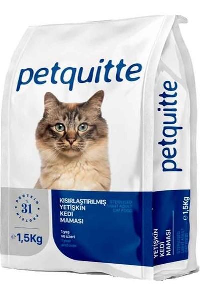 Petquıtte Kuzu Kısırlaştırılmış Kedi Maması 1,5 kg