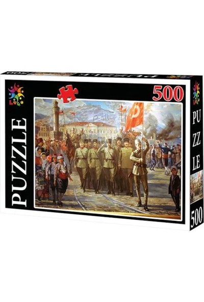Laço Puzzle Mustafa Kemal Atatürk Maxi 500 Parça Lc50001