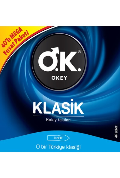 Okey Klasik 40'lı Prezervatif Avantaj Paketi