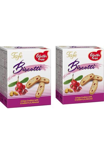 Tafe Glutensiz Yaban Mersinli ve Bademli Biscotti 2x60 gr