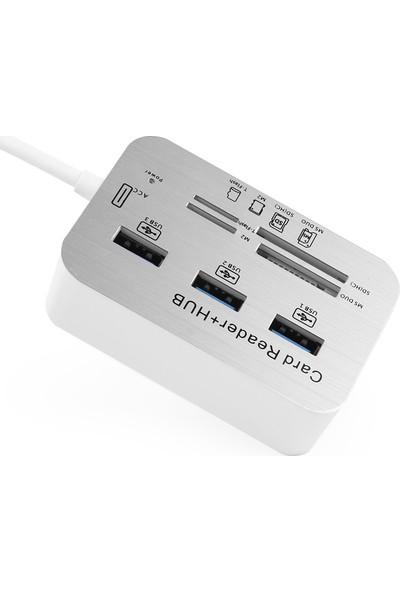 TX USB 3.0 HUB Çoklu Kart Okuyucu ve 3xUSB 3.0 Çoklayıcı (TXACUCR340)