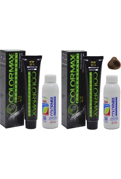 Colormax 7.3 Fındık Kabuğu + Oksidan Krem 90 ml 2'li