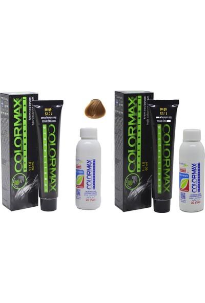 Colormax 8.34 Açık Karamel + Oksidan Krem 90 ml 2'li