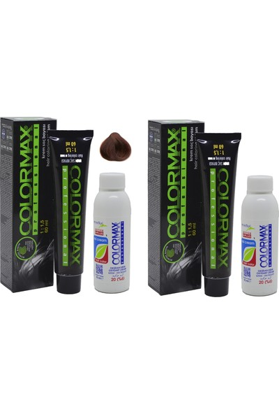 Colormax 5.43 Koyu Kahve Dore Bakır + Oksidan Krem 90 ml 2'li
