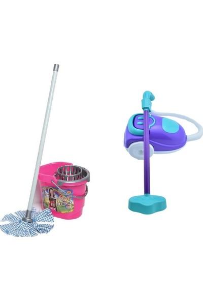 Can 2 Si Bir Arada Temizlik Seti Vileda Takımı ve Elektrik Süpürgesi Seti