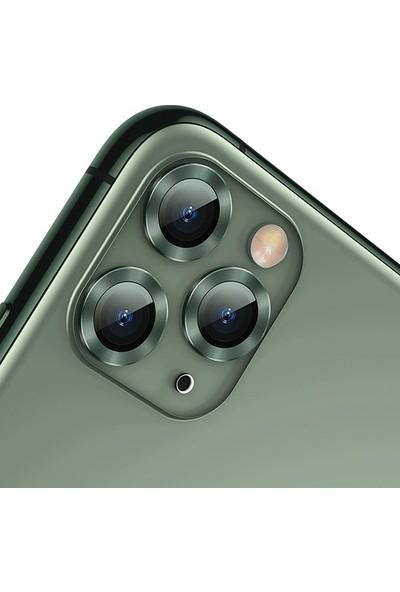 Baseus iPhone 11 Pro Kamera Lens Koruyucu Sgapıph58S-Ajt0S - Yeşil