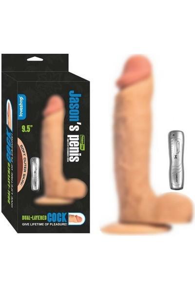 Loveshop Jasons 24 cm Gerçekçi Realistik Titreşimli Vibratör Penis
