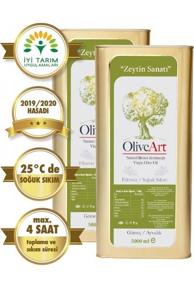 Oliveart 2019 Hasatı Natürel Birinci Soğuk Sıkım Filtresiz Zeytinyağı 2 x 5 Lt