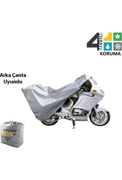 UygunPlus Kymco Venox 250 Motosiklet Örtü Branda Arka Çanta Uyumlu