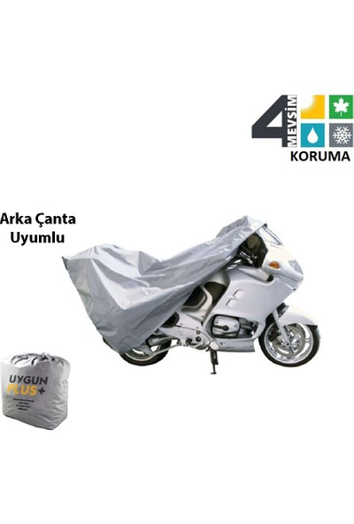 UygunPlus Lifan Lf200 16C Motosiklet Örtü Branda Arka Çanta Uyumlu