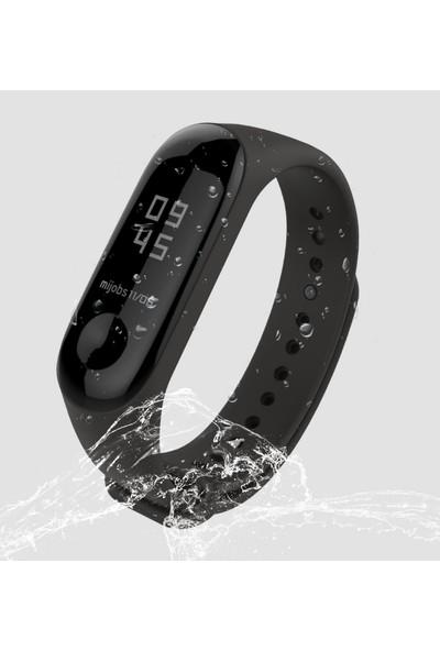 Kyver Xiaomi Mi Band 3 - Mi Band 4 Akıllı Bileklik Kordon Kayış Siyah