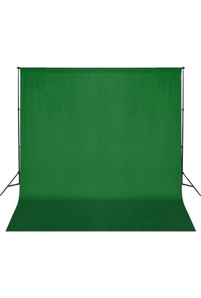 Fotexon 3 x 6 m Yeşil Fon Perdesi ve Fon Standı