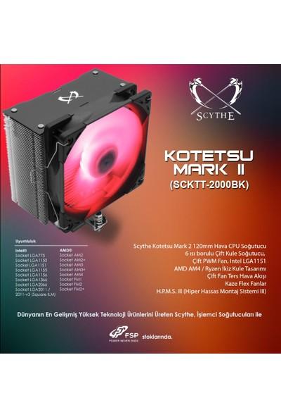 Scythe Kotetsu Mark 2 RGB Işlemci Soğutucu SCKTT-2000BK