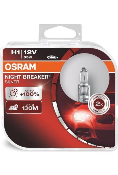 Osram 12V H1 Night Breaker Silver