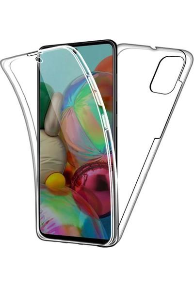 CoverZone Samsung Galaxy A51 Kılıf 360 Şeffaf Tam Koruma Silikon Kılıf