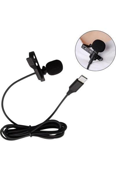 CoverZone Type-C Ap-21 Profesyonel Youtuber Yaka Mikrofonu Siyah
