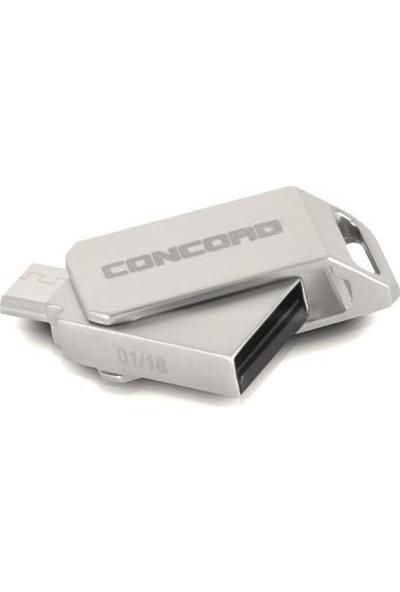 Concord C-OTGT64 64GB 2.0 Micro OTG Metal USB Flash Bellek