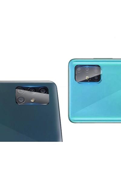 Happyshop Samsung Galaxy A71 İçin Kamera Koruma Cam Ekran Koruyucu Şeffaf