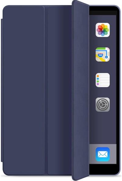 "Redpoloshop Apple iPad 7. Nesil Kılıf 10.2"" Smart Cover Modlu Arkası Silikon (A2198 A2200 A2232)"