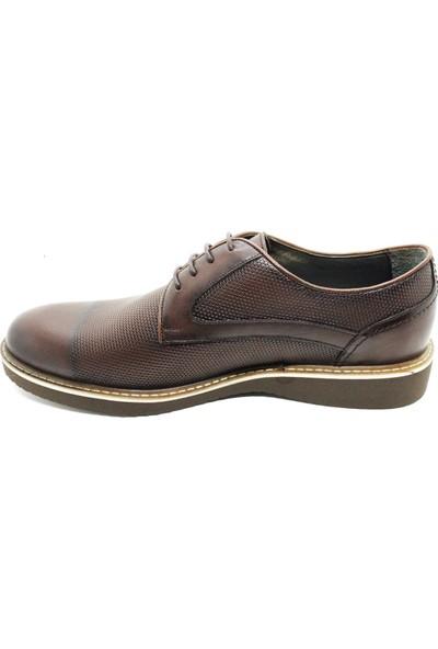 Serdar Yeşil Erkek Kahverengi Deri Bağcıklı Klasik Ayakkabı