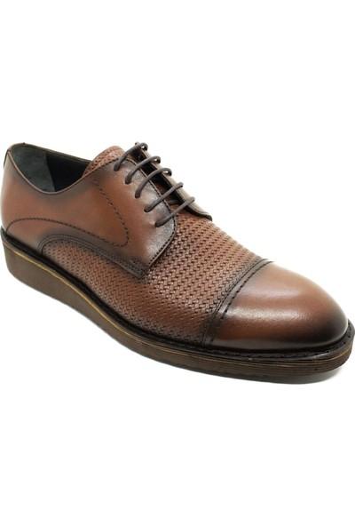Serdar Yeşil 2237 Erkek Taba Deri Bağcıklı Klasik Ayakkabı