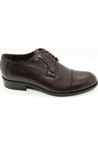 Serdar Yeşil Deri Kahverengi Bağcıklı Erkek Klasik Ayakkabı