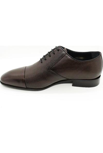Serdar Yeşil Deri Kahverengi Erkek Klasik Ayakkabı