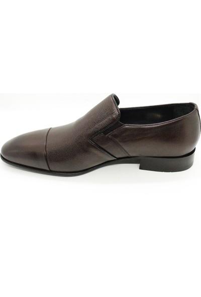 Serdar Yeşil Deri Kahverengi Erkek Neolit Taban Klasik Ayakkabı
