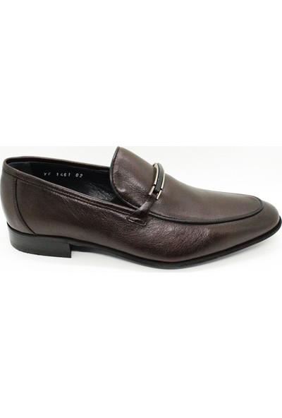 Serdar Yeşil Erkek Kahverengi Deri Neolit Taban Klasik Ayakkabı