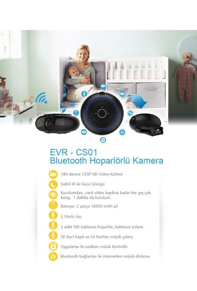 Evervox EVR-CS01 1.0MP Wi-F- Kamera ve Bluetooth Hoparlör