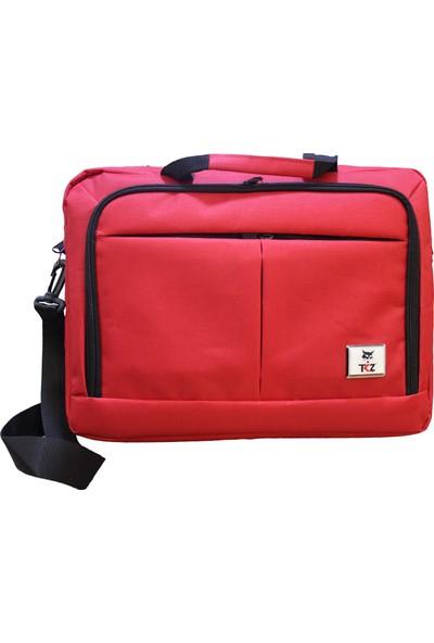 Tkz TK-683 Su Geçirmez Çift Bölmeli Valiz Taşıma Aparatlı Notebook Çantası ( Kırmızı)