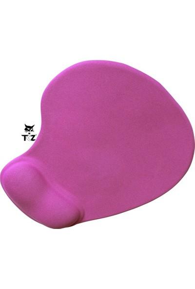Tkz Pembe Ergonomik Silikon Bileklikli Mouse Pad