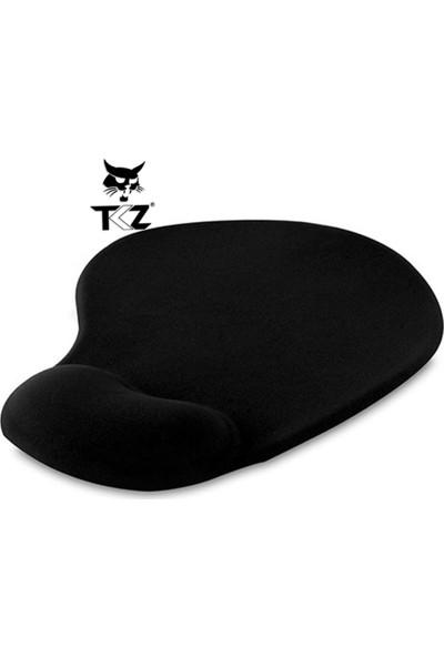 Tkz Siyah Ergonomik Bileklikli Mouse Pad (Suya Dayanıklı)