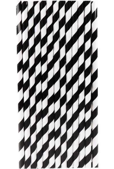Beysüs Pipet Kağıt Siyah Beyaz 25'li